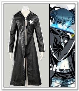 Brs Kostüm (Black Rock Shooter Cosplay Kostüm Robe, Größe XXL: Höhe)