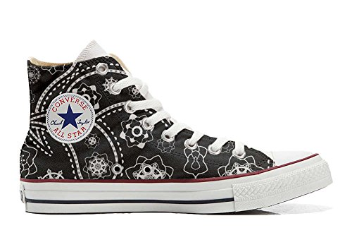 Converse All Star Chaussures Coutume (produit artisanal) Black Paisley