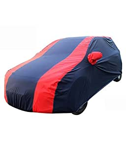 Rosario - 100% Waterproof Car Body Cover for Hyundai Xcent -Carmate Pearl Red and Blue