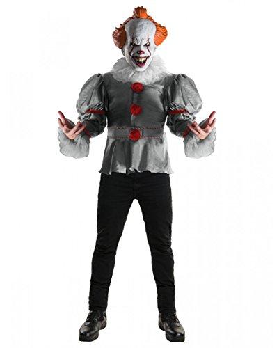 Original Pennywise ES Kostüm als Horrorclown Verkleidung für Halloween XL (Horrorclown Kostüme)