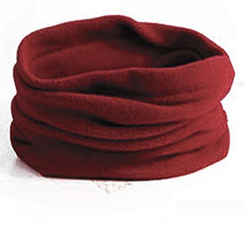 Neck Fleece Pullover (Wein Rot Schal aus Baumwolle Halswärmer Motorrad Motorrad wärmeren Winter Warm Outdoor Thermo-Wärme Hals Ski Outdoor)