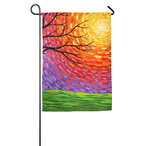 HujuTM Tree and Sun Home Garden Indoor/Outdoor Flags 18\