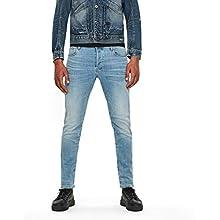 G-STAR RAW Men's 3301 Slim Fit' Jeans, Light Indigo Aged, 33W / 34L