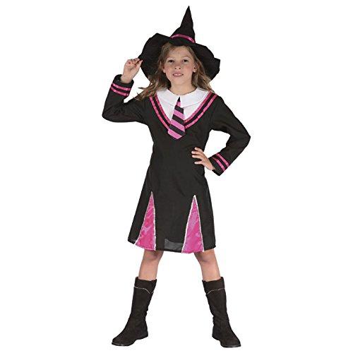 Kostüm Kinder Luxe Hexe schwarze und rosa Größe (Rosa Und Schwarze Hexe Kostüm)