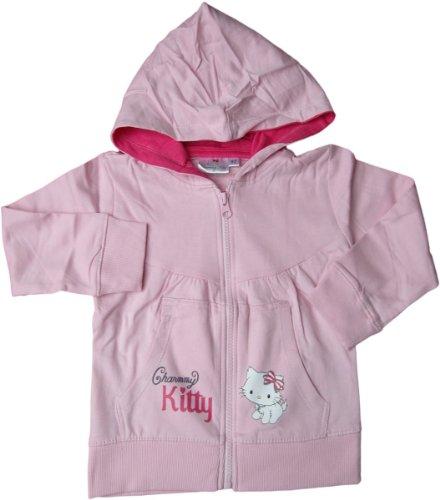 Charmmy Kitty Sweatjacke mit Kapuze - Hallo Kitty Rosa - (Mädchen Für Kitty Hallo)