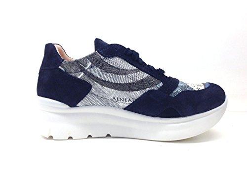 Gattinoni Scarpe Donna, Sneaker Woman Sport Suede, PEGVA6042WS, Camoscio, Modello Hogan, Lacci Blue