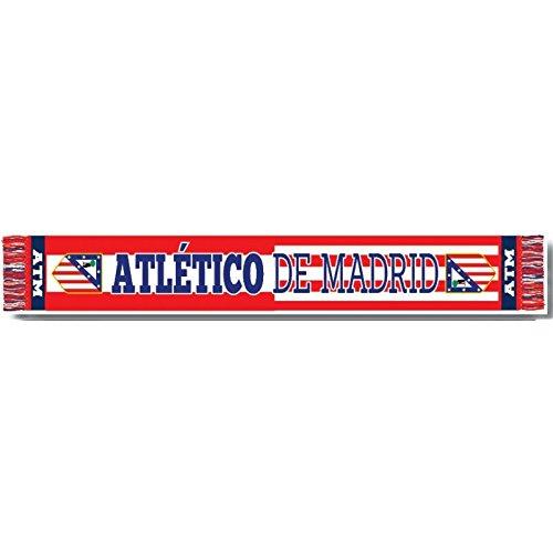 Bufanda Atlético de Madrid clasica horizontal mixta