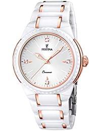 Festina F16698/5 - Reloj de pulsera mujer, cerámica, color blanco