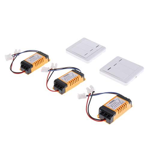 perfk Funk Lichtschalter Wandschalter mit Sender Empfänger Kit System, Lange Lebensdauer -