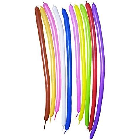 200pcs Globos de Animales Mágicos de los Colores Variados, Vienen con 1 inflador+ 1 rollo de cinta