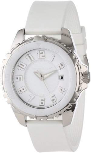 Momentum Deep 6 Ceramic (Narwhal) Women's Quartz Watch with White Dial Analogue Display and White Rubber Strap 1M-DV63W1W
