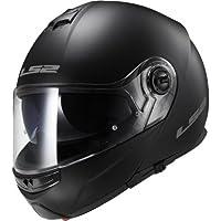 LS2 Motorcycle Helmets-Strobe Matt, Black, Size L