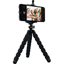 Rollei Selfie Mini Tripod for Digital Cams, ActionCams and Smartphones with Maximum Load: 1.2 kg - Black