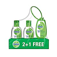 Dettol Original Anti-Bacterial Hand Sanitizer 50ml 2+1 Free