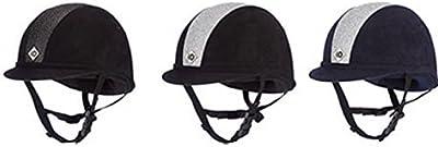 Charles Owen YR8 Equitación Sombrero - Negro/Negro Brillo