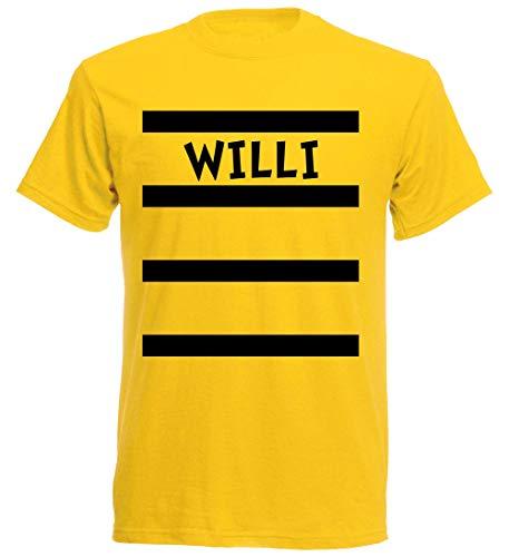 (aprom Willi T-Shirt Karneval in Kostüm Form mit Bienen Design Gruppenkostüm Fasching (L))