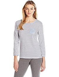 Nautica Women's Knit Lounge Striped Top