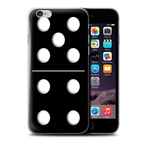 Stuff4 Hülle / Case für Apple iPhone 6S / Pack 5pcs / Domino/Dominos Kollektion Schwarz Kachel 5/4