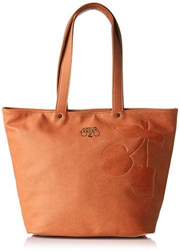 Le Temps Des Cerises Ladies Elegance_ltc9345 Shopping Bag, 17,5 X 41 X 28,5 Cm Arancio (cognac Beige)