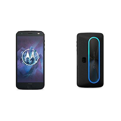 Image of Motorola Moto Z2 Force Edition 13,97 cm (5,5 Zoll) Smartphone (6GB RAM/64GB Speicher, Android) super schwarz + moto Smart Lautsprecher mit Amazon Alexa