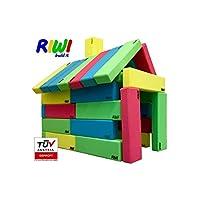 RIWI 24 XXL Building Bricks | Soft Foam Blocks | Machine Washable | TÜV Austria Certified | Made in Europe