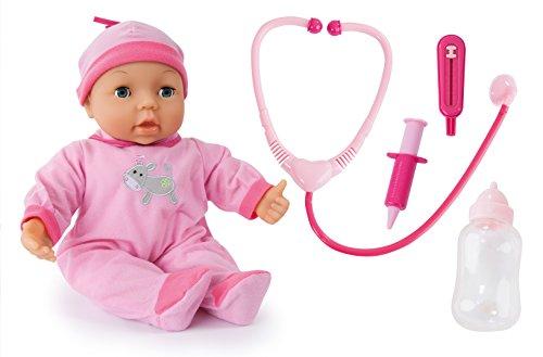 Bayer Design - Muñeca bebé médico con accesorios e 25 funciones, 38 cm (93877)