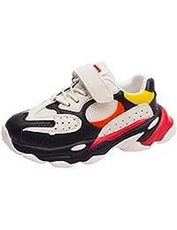 XL_etxiezi Zapatillas Casual para niños y niñas, Negro_28
