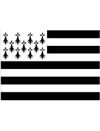 Supportershop-Drapeau Bretagne polyester avec 2 œillets metalliques -  150 x 90 cm