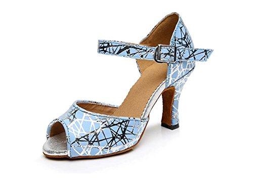 JSHOE Womens Latin Dance Toe Fermé HeelSalsa / Tango / Chacha / Samba / Moderne / Chaussures De Jazz Sandales