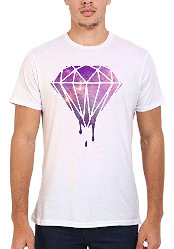 Dripping Diamond Galaxy Cool Funny Men Women Damen Herren Unisex Top T Shirt .Weiß