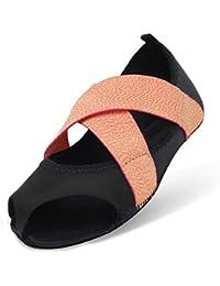 JOINFREE Zapatillas Bellarina con Media Puntera Antideslizante para Ballet… 0f38b85ecef1