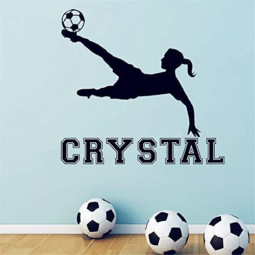 zimmer Mädchen Fußball Benutzerdefinierte Mädchen Name Aufkleber Mädchen Zimmer Dekor Fußball Für Wohnzimmer Jungen Schlafzimmer ()