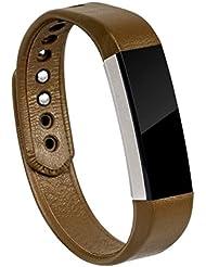 Band for Fitbit Alta, Wearlizer Echt Leder Uhrenbänder Armband Smart Watch Ersatzband Armband für Fitbit Alta