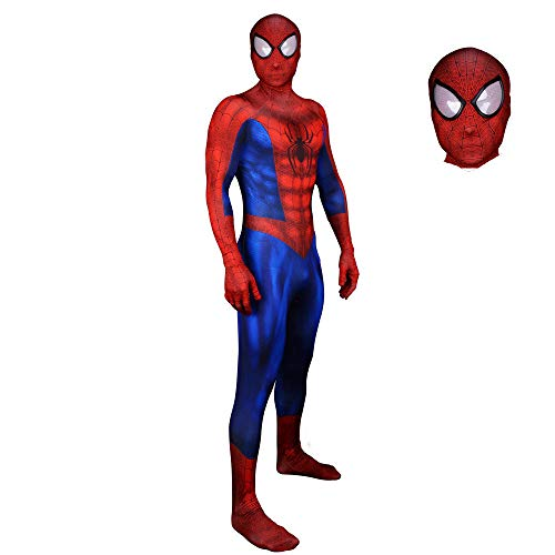 SHANGN Spiderman Homecoming Kostüm, Erwachsene Kinder Spider-Man Cosplay Outfit, Kinder Unisex,Child-L