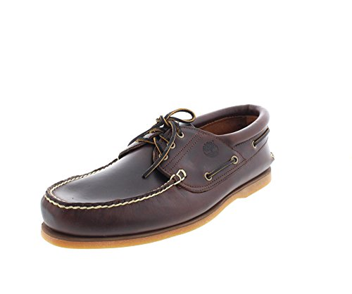Classic 2 Eye, Scarpe da Barca Uomo, Marrone (Braun (Dark Brown Smooth)), 44 EU Timberland
