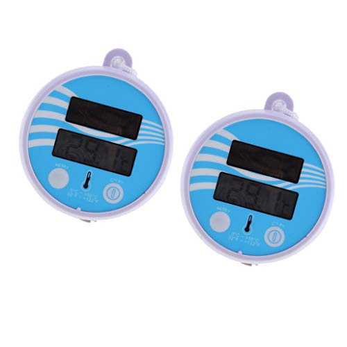 LOVIVER 2 X Floating Water Thermometers, Wireless Remote Pool Thermometer with Digital LCD Display for Outdoor Indoor Swimming Pools, Spas, Hot Tubs, Ponds
