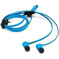 Nokia Coloud Pop In-Ear Kopfhörer mit Tangle Free Flachkabel und Integriertem Mikrofon - Cyan Blau