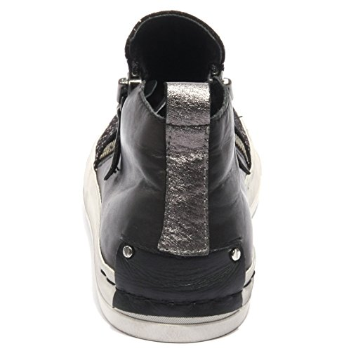 B2174 sneaker donna CRIME IBIZA scarpa nero strass shoe woman Nero