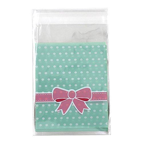 arc-de-8-x-10-cm-100-piece-sacs-de-plastique-auto-adhesif-pour-cookies-biscuit-emballage-vert