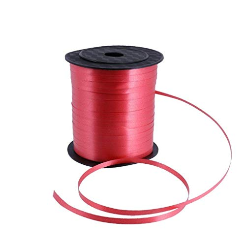 Goodplan Premium DIY Band Kunststoff Band Double Face Solid Satinband für Hochzeit Handwerk Verwenden 1 Rolle Rot 230 Mt -