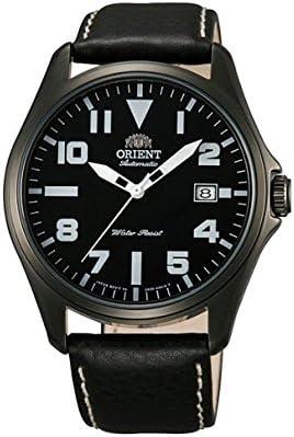 Orient Classic FER2D001B0 - Reloj automático con fecha y pulsera de piel para hombre, color negro