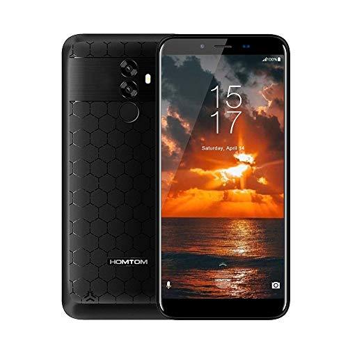 """HOMTOM S99 Smartphone, 5.5"""" 4G Téléphones Portables Débloqués, Android 8.0 Octa Core 4Go+64Go, 6200mAh, Appareil Photo 21MP+13MP, Dual SIM, Face-ID, Black"""