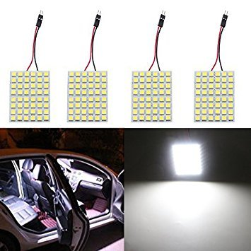 Grandview (Super Weiß Energiesparend 505048-smd LED Panel Dome Lampe Auto Auto-Innenraum-Lesung Teller Light Dach Deckenleuchte Innen Draht lamp-4pcs (Dach Lampe Auto)