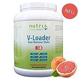 V-LOADER - Post-Workout-Shake für Muskelaufbau und Regeneration - 1500g - Grapefruit - Maltodextrin - Proteinpulver - BCAA - Creatin - L-Glutamin
