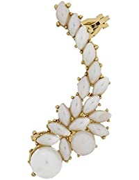 The Luxor Gold Plated Designer Pearl Studded Ear-Cuff For Women(ER-1502)