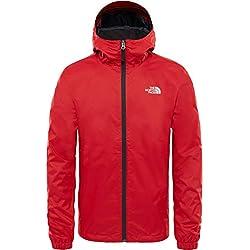 THE NORTH FACE Men's Quest Jacket, Rage Red Black Heather, Medium