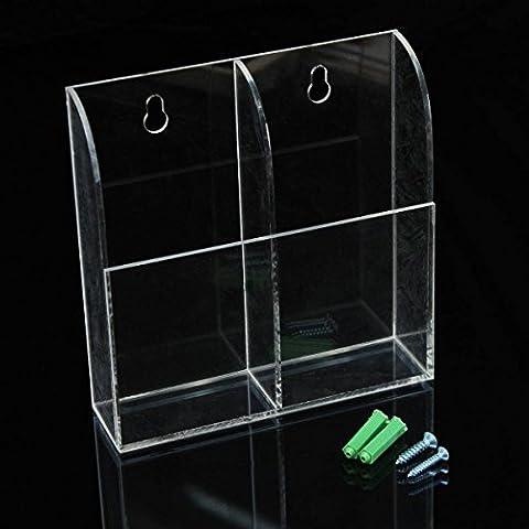 KING DO WAY Porta Telecomando Scatola Stoccaggio Penne Telefono Organizzatore Acrilico Trasparente Titolare Contenitore Plastica Trasparente 138mmX40mmX138mm