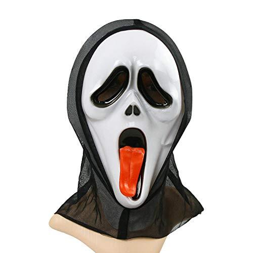 XIAOLONGY Spuckende Sprache Halloween Schreien Monolithischen Entsetzte Maske Voller Mann Prom Rolle Spielt Dekorative Accessoires,Color