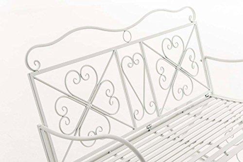 CLP Garten-Bank, 2er Schaukelstuhl SILLY, Eisen lackiert, Design nostalgisch antik, ca 120 x 45, Höhe 95 cm Weiß - 3
