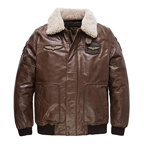 PME Legend Bomber Jacket Hudson - Bomberjacke, Größe_Bekleidung:XXXL, Farbe:Dark Brown